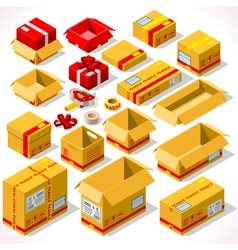 Packaging 02 objects isometric vector