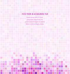 Pink square mosaic background design template vector image vector image