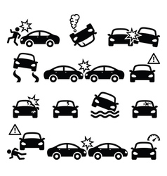 Road accident car crash personal injury vector image