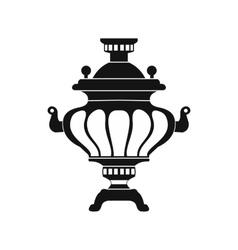 Samovar icon simple style vector image