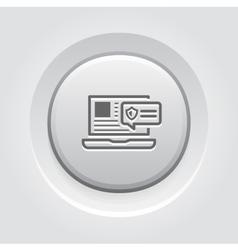 Security alert icon grey button design vector