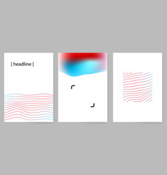 set of modern minimal design covers with abstract vector image vector image