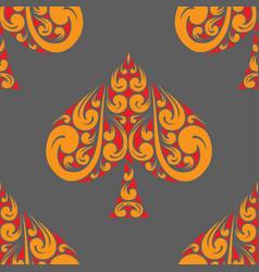 spades poker pattern vector image vector image