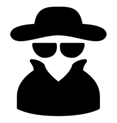 Spy icon from business bicolor set vector