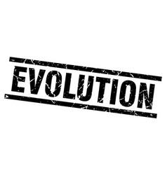 Square grunge black evolution stamp vector