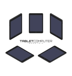 Tablet computer from four sides icon set vector image vector image
