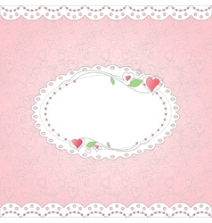 Template for card vector image vector image