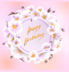 Greeting card with white flowers can be used as vector