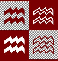 Aquarius sign   bordo and vector
