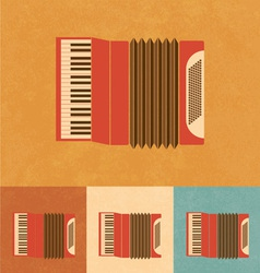 Retro accordion vector