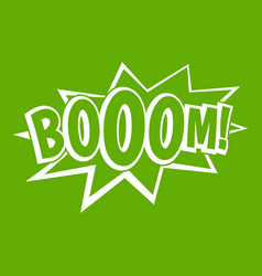 boom explosion bubble icon green vector image