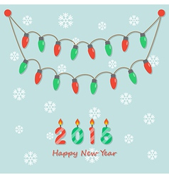 Party christmas light bulbs vector