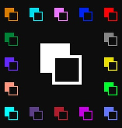 Active color toolbar icon sign lots of colorful vector