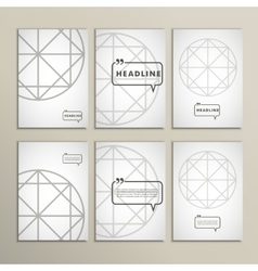 Geometric shapes on a white background vector