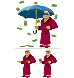 Rich man vector
