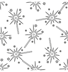 Seamless background-burning christmas sparkler vector image