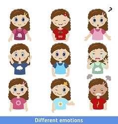 Girl faces vector