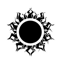 Abstract isolated black sun vector