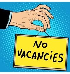 Hand sign no vacancies vector