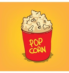 Popcorn in a bucket vector