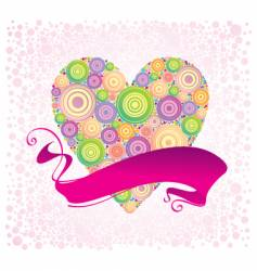 valentines and ribbon vector image