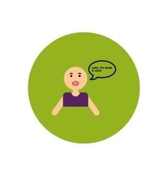 Stylish icon in color circle man attack stroke vector