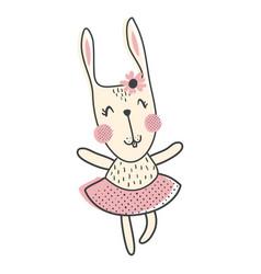 Ballerina bunny vector
