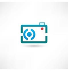 Blue line camera vector image vector image