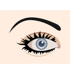 close up eye isolated vector image