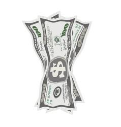 crumpled dollar bills on vector image vector image
