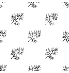 dill icon in black style isolated on white vector image vector image