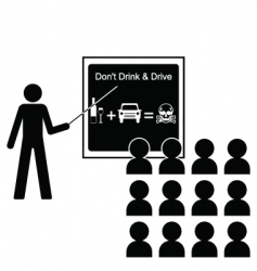 drink drive lecture vector image