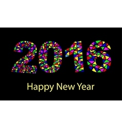 Happy New Year 2016 colorful greeting card made in vector image