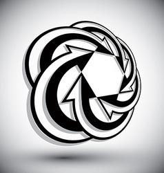 Infinite loop arrows abstract symbol graphic vector