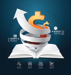 Infographic paper graph book diagram creative vector image vector image