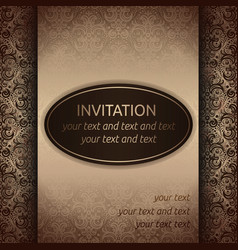 invitation card template in old style vector image vector image