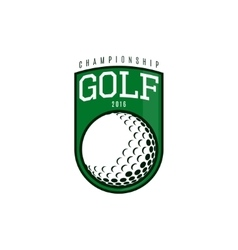 Label of golf vector