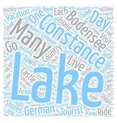 Lake constance holiday on the bodensee text vector