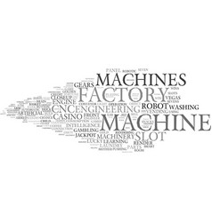 Machines word cloud concept vector