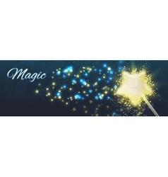 Magic background shining stars vector