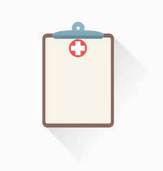 medical clipboard icon with shadow vector image