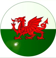 National Flag of Wales Button vector image vector image