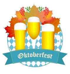Oktoberfest design autumn oktoberfest blue vector