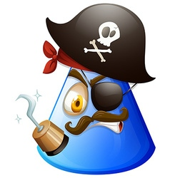 Pirate face on cone vector