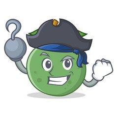 Pirate guava character cartoon style vector