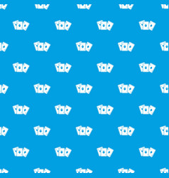 playing cards pattern seamless blue vector image
