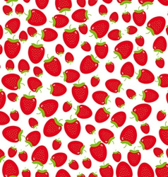 Seamless pattern with strawberries on the white vector image vector image