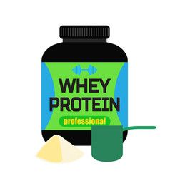 Sports nutrition whey protein professional powder vector
