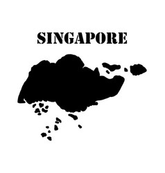 Symbol of singapore and map vector