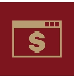 The payment icon pay and e-commerce dollar vector